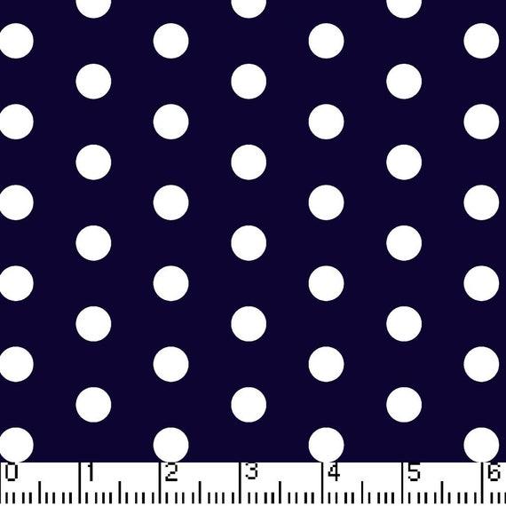 Polka Dot Navy & White Fabric