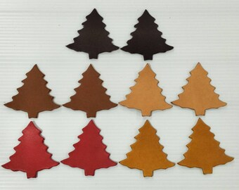 2 high vegetable tanned leather christmas cut outs christmas decorations christmas accessories