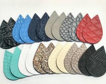 "12pk-Leather Teardrop LG Die Cut 3-4 oz Veg Tan/""Artisan/'s Choice/"" DIY Earrings"