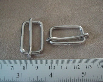 10 Pcs, 1 inch (2.5 cm./25 mm.) (inner) Nickel Strap Slider, Strap Adjuster Slider, Bag & Purse Hardware.