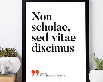 Latin quote prints | Etsy