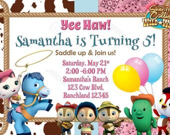 Sheriff Callie Birthday Invitation