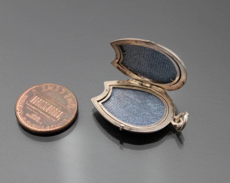Horseshoe Luck Amulet Antique Photo Pendant Equestrian. Art Nouveau Locket 830 silver Rose Gold Plate