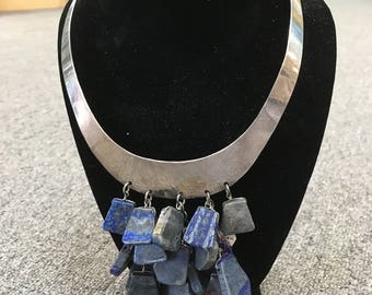Exsqiusite Lapis Lazuli and Silver Necklace