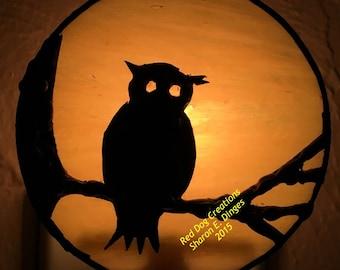 Owlin' at the Moon Night Light