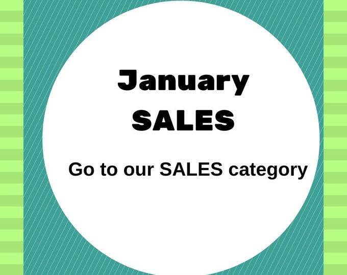 Featured listing image: January sales,  jewelry sales , jewelry discounts offers and deals