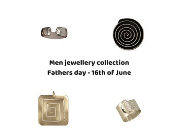 Fathers day jewelry gifts, men  jewelry pendant, men  gold or silver band ring