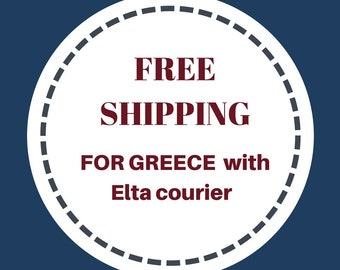 Free shipping for Greece, free jewelry delivery, free jewelry shipping, Free shipping on National orders, Greek orders free courier