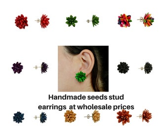 Wholesale stud earrings, flower earrings, seed earrings, cluster earrings, jewelry findings, making jewelry, wholesale women earrings