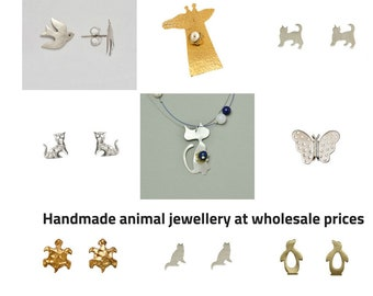 Animal jewellery wholesale, cat earrings wholesale, giraffe brooch, jewelry making, silver jewellery wholesale, handmade jewellery wholesale
