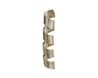 Large sterling silver spiral pendant,  men or women twisted long pendant for necklace, big boho plain simple pendant