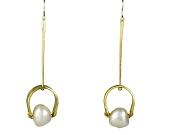 Bridal earrings, drop pearl earrings, gold pearl earrings, wedding earrings, bridal jewellery, gold bridal jewellery, brass jewellery