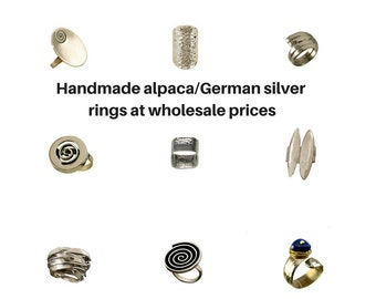 Wholesale rings, silver rings, wholesale jewellery, German silver rings, adjustable rings, handmade rings, women rings, men hammered bands