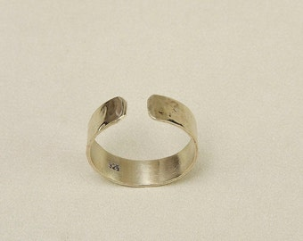 Sterling silver open men band , women hammered simple band ring, minimalist shiny band ring