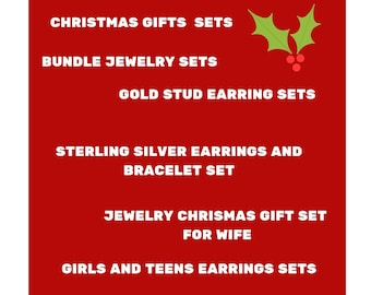 Jewelry gold and silver tone sets of two or three items, pick two handmade jewelry pieces, jewelry Christmas deals