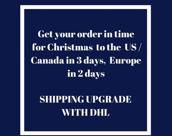 Shipping upgrade to the USA,  Europe and Australia, Speedy shipping , Christmas  DHL shipping