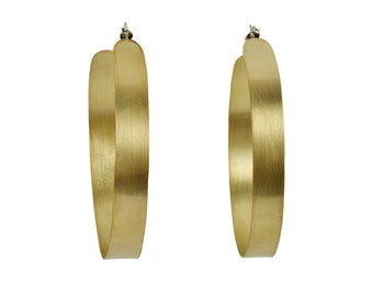 Creole extra large 3 inches hoops, gold or silver lightweight hoop earrings,  fashion large boho hoops
