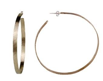 Extra large thin hoop earrings, silver 3 inches hoops, circle big hoops, modern jewelry, metallic hoops, giant earrings, alpaca jewelry