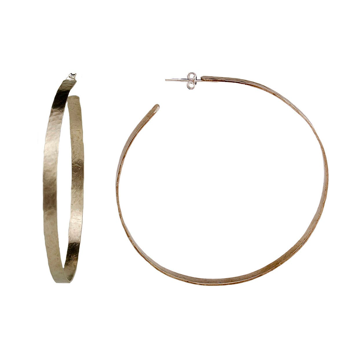4d80d0d48 Extra large thin hoop earrings, silver 3 inches circle big hoops, metallic  ...