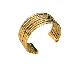 Gold thick cuff bracelet, adjustable bracelet, wide bangle, tribal jewelry, tumbaga circlet, wedding jewelry, fat cuff, polished bangle