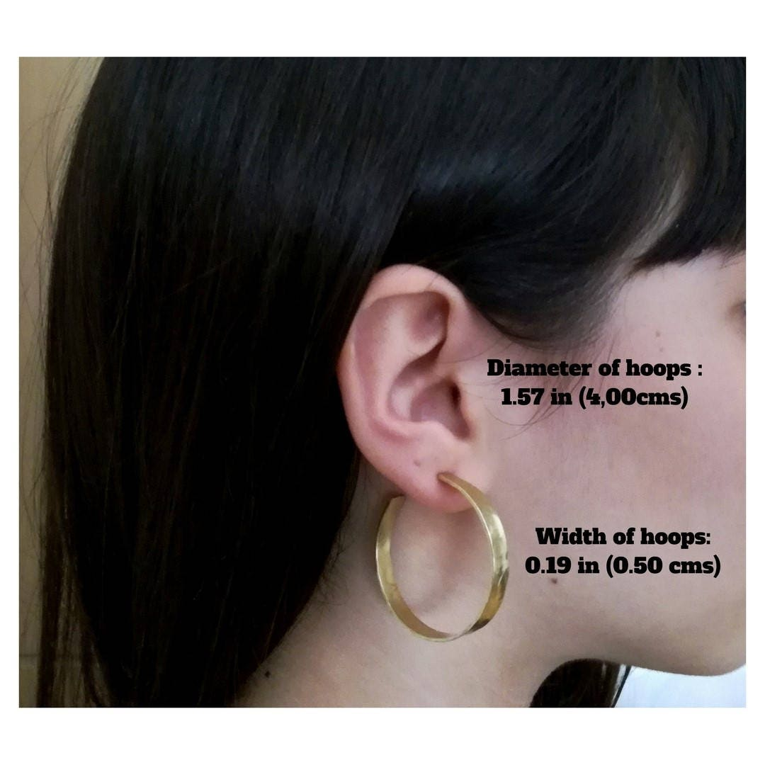7579ede3d Large gold or silver post hoop earrings, 2 inches hoops , brass ...