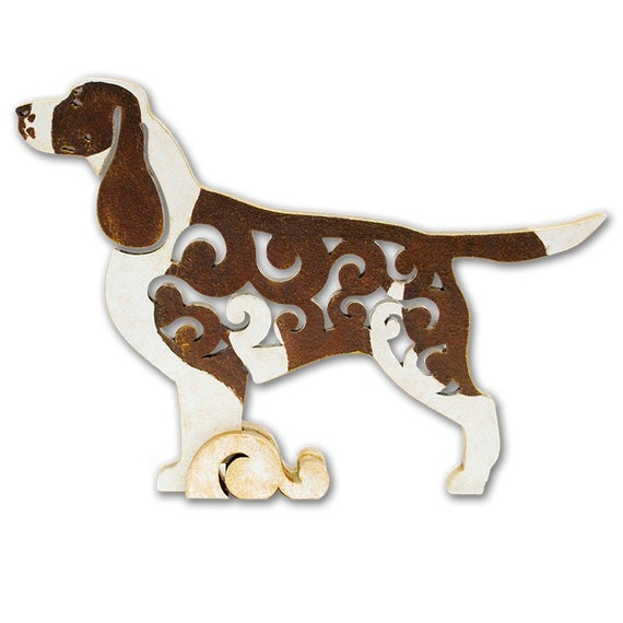 statuette made of wood statue Dog  figurine Welsh Springer Spaniel MDF