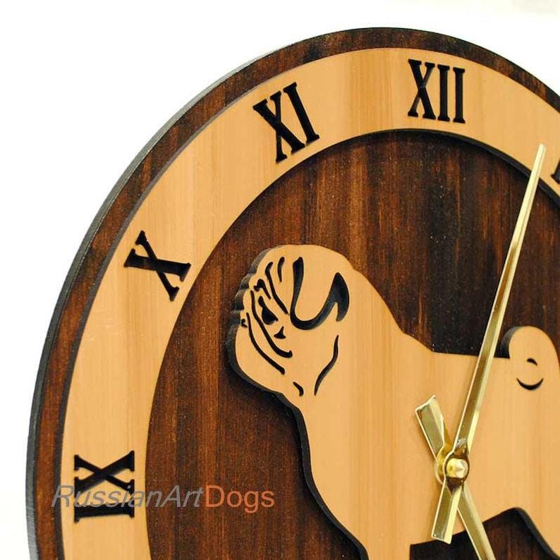 Wood imitation hand-painted with acrylic paint made of wood Wall Clock Sheltie figurine MDF