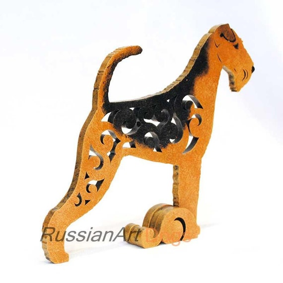MDF statuette made of wood statue Dog Russian toy terrier figurine