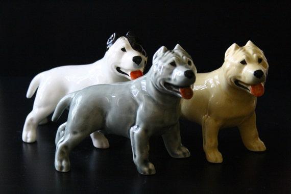 Life Like Statue Decor Home Staffordshire Pitbull Dog Figurine Garden New