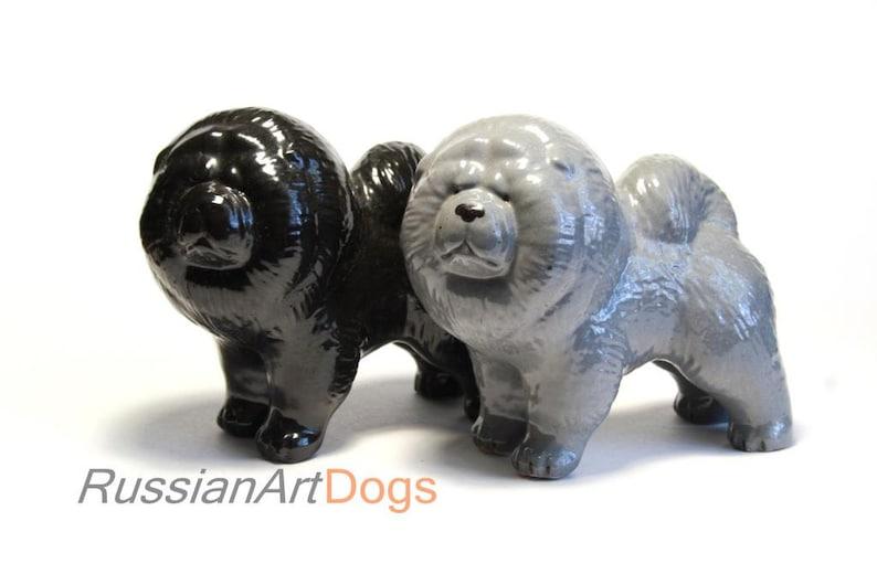 Chow Chow Mini Hand Painted Figurine Black