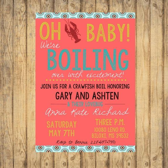 Custom Crawfish Boil Baby Shower Digital File Baby Girl Party Etsy