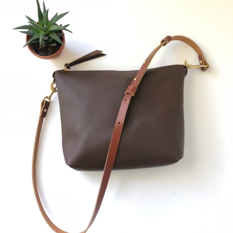 2c0401eae2 Leather Crossbody Bag Leather purse Leather Hobo Bag Brown