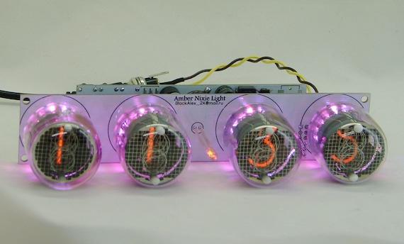 2.3  witch IN-18 tube RGB backligh Nixie tube clock assembled kit