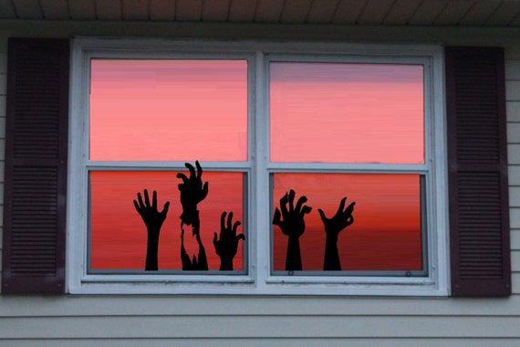 Ghoul Hands ~  Halloween Wall or Window Decal