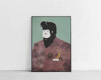 Mr. Monkey | screenprint poster | 50x70