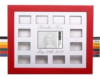 Personalized 12 Month Collage Frame Holds 1 5x7 With 12