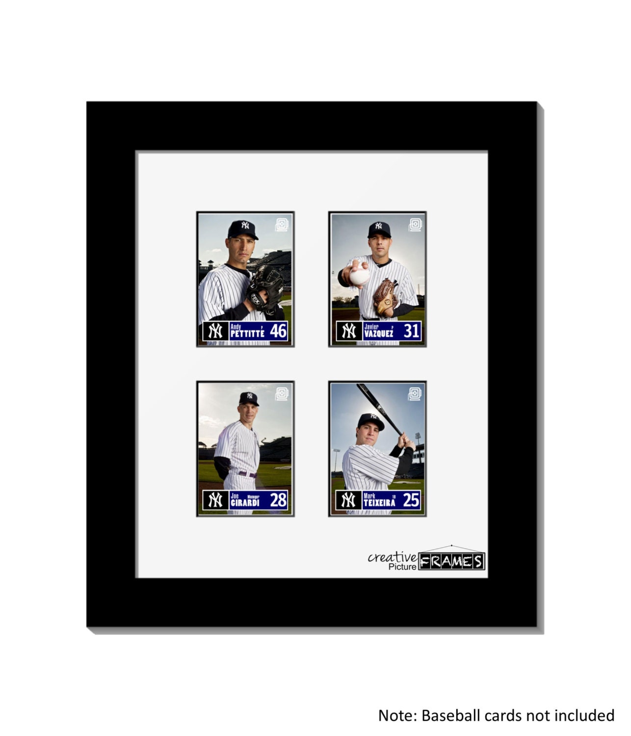 Four Baseball Card Frame - Displays On Shelf Or Wall, Perfect For ...