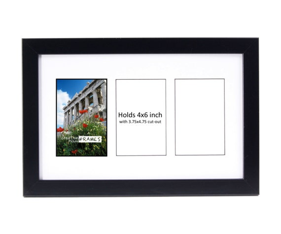 4x6 Multiple 2 3 4 5 6 7 8 9 10 Opening Black Picture Frame Etsy