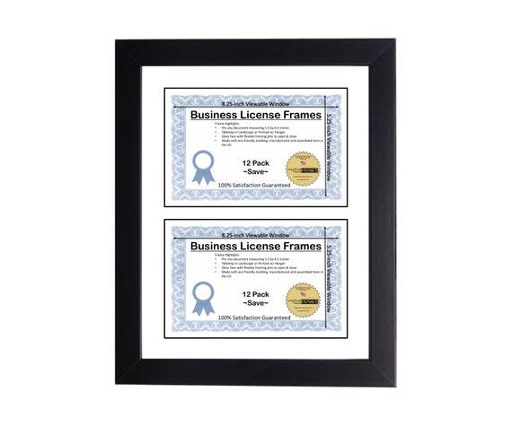 double 5 5x8 5 license frame business license frame etsy etsy