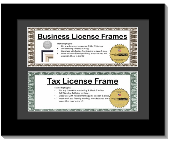 3.5x8.5 Double License Frame with Mat 8.5x11-inch Frame | Etsy