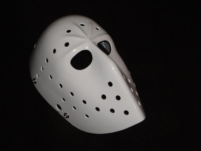 New Vintage Parent Hockey Goalie Mask White Etsy