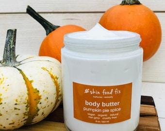 Pumpkin Spice Body Butter, Cream Organic Skin Care, Organic Skin care, Non GMO Cruelty Free VEGAN
