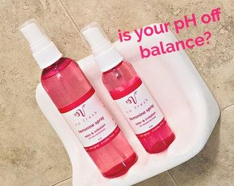 Feminine Hygiene Spray clean, freshen up at gym, yoga spray, organic pure clean on the go cleanser spritz freshen   No Hassle Returns