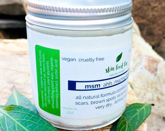 MSM Cream Psoriasis Eczema, Skin Opti-msm acne scars wrinkles collagen production 2 ounce and 4 ounce jar Methylsulfonylmethane