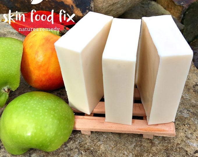 Featured listing image: Apple Cider Vinegar Soap. pH Wash itchy skin fragrance free no scent soap, goats milk soap pure clean