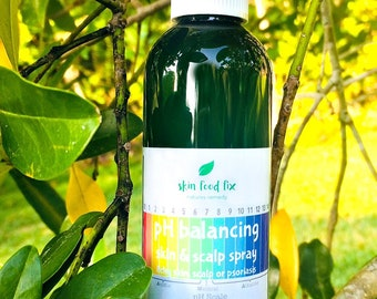 pH Spray Itchy Skin Psoriasis or Scalp Flakes, Spray to stop itch after shower, Itchy Skin children