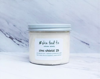 Zinc Sunblock natural safe, Rosacea All natural physical sun block Raspberry Seed Oil Extract natural Sun UVA Protection Non Greasy Zinc