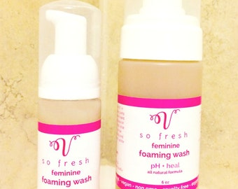 Yoni Wash Cleanser VEGAN Intimate, Vaginal Itch yeast infection odor all natural vegan, no hassle returns