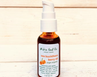 Sea Buckthorn ORGANIC Berry Oil Cold Pressed  No SPILLS vitamins, omegas, anti aging, healing