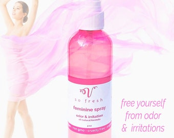 Best Feminine Spray Itching Odor organic pure clean on the go cleanser spritz freshen stop odor minimize sweating